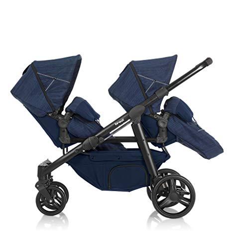 Brevi 781-653 Ovo Twin Passeggino Gemellare, Navy Blue Jeans, Collezione 2021