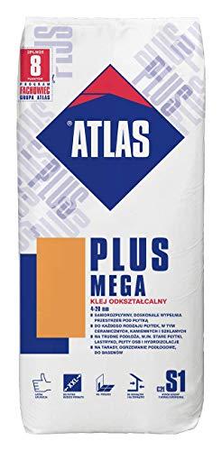 Atlas Natursteinkleber Plus Mega grau C2ES1 Marmor Granit Kleber Fliesen Fliesenkleber 25 kg