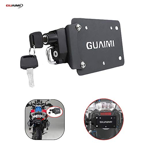 GUAIMI License Plate Helmet Security Lock with Mount Anti-Theft for BMW R1200GS LC/ADV R1250GS/ADV