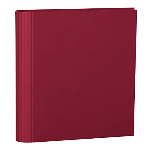 Semikolon (353301) Foto-Ordner 4 Ring burgundy dunkel-rot - Foto-Mappe zum Selbstgestalten mit Efalinbezug - Basis für Foto-Album oder Fotobuch