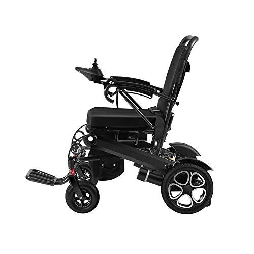 Miao. Opvouwbare elektrische rolstoel Joystick 360 ° draagkracht 100 kg zitbreedte 43 cm motor met schroef zonder einde