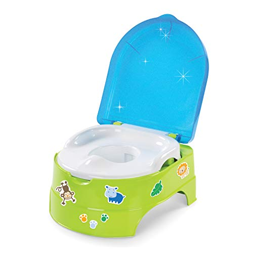 Summer My Fun Potty, Neutral – 3-Stage Potty Training Toilet – Includes Colorful Stickers, Removable Training Seat, Non-Slip Rubber Feet, and Ability to Convert into Stepstool