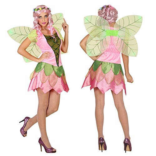 Eurroweb - Disfraz para mujer de hada rosa (2 piezas) – Disfraz de adulto talla XXL