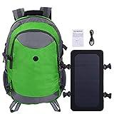 SALUTUYA Nylon Solar Rucksack Laptop Rucksack Diebstahlsicherer Solar Rucksack Langlebig, mit strapazierfähigem verstellbarem Riemen, zum Reisen, Wandern(Green)