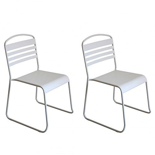 Paris Prix - Lot De 2 Chaises Design nils Blanc
