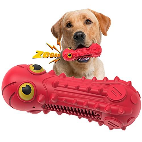 SUNNEKO Hundespielzeug, Unzerstörbar, Quietschend, Robust, sehr Robuster Kauspielzeug Hunde nahezu Unkaputtbar, Quietschspielzeug für Große Mittlere Hunde, Zahnpflege Hunde Spielsachen