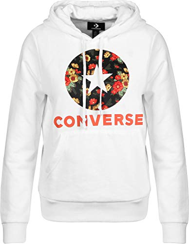 Converse In Bloom Print W Sudadera con Capucha Optical White