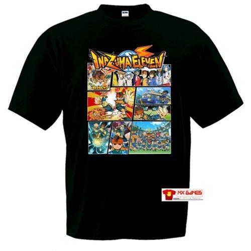 Mx Games Camiseta Inazuma Eleven (Tipo GTA) Negra (Talla: 11-12 años)