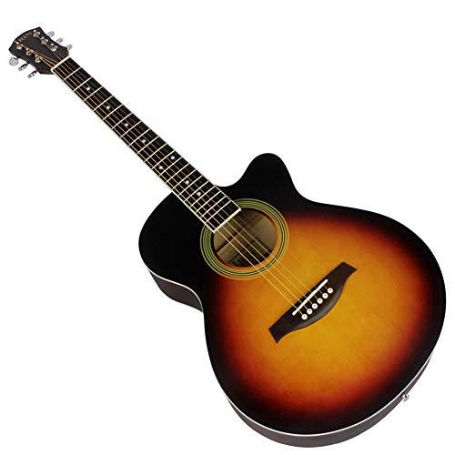 BLKykll Akoestische gitaar, Uitgerust met Professionele Folk Guitar Set, Originele String Set, Paddle, Piano Doek, Strap, Tuner, Capo Gemakkelijk mee te nemen en te spelen