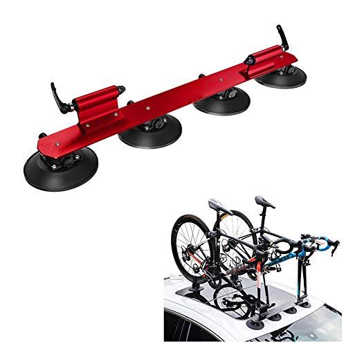 Sucastle Portaequipajes para bicicletas en el techo para 2 bicicletas Portaequipajes para bicicletas en el techo de instalación rápida Portaequipajes para transporte de bicicletas para MTB Mountain Ro