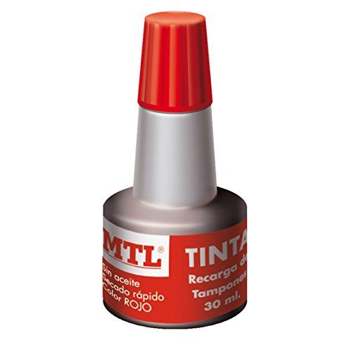 MTL 79536 - Tinta tampones y sellos, 30 ml, color rojo