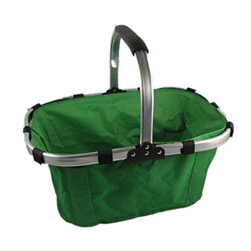 Grüne Folding Picknick-Korb Gemüse Tragbare Faltbare Tragekorb