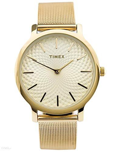 Timex Orologio Analogico-Digitale Quarzo Donna con Cinturino in Acciaio Inox TW2R36100