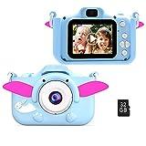 Kinderkamera, Digitalkamera Kinder 40MP 1080P HD Selfie-Kamera 2 Zoll HD-Bildschirm mit 32G TF-Karte Weihnachten Fotoapparat Geburtstag Geschenke Jungen und Mädchen