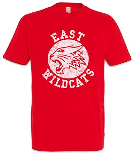 Urban Backwoods East Wildcats Uomo T-Shirt Rosso Taglia S