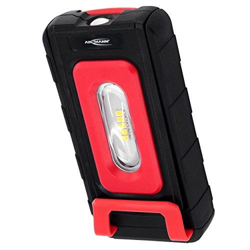 ANSMANN LED Werkstattlampe WL200B inkl. AAA Batterien - LED Arbeitsleuchte kabellos, flexibel & magnetisch - Profi Arbeitslampe 220 Lumen - Vielseitige LED Taschenlampe für Auto & Werkstatt Zubehör