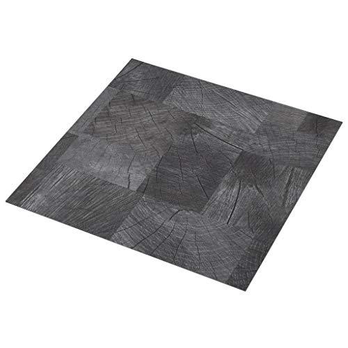 Irfora PVC-Laminat-Dielen Selbstklebend PVC-Fußboden-Set PVC Bodenbelag Bodendiele 5,11 m² Holzoptik Grau/Mono-Muster