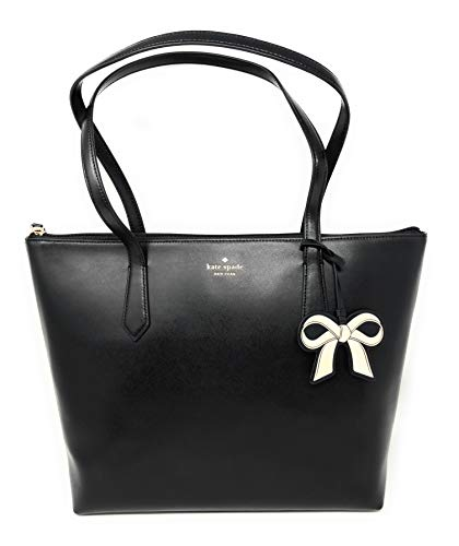 Kate Spade New York Cassy Leather Tote Bag in Black