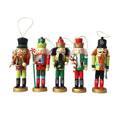 Nussknacker Puppe König Soldat Kinderzimmer Dekoration Holzspielzeug Set 5 Stück Set 12 cm,A