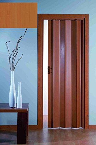 AWITALIA- La porta a soffietto PVC prodotta su misura Š di colore LEGNO-K70 con maniglietta misura LargxAlt. 80x223 (SERRATURA E APERTURA CENTRALE OPTIONAL) I valori di larghezza si riferiscono alla porta estesa, nel caso di valori intermedi, si sceglie l'intervallo immediatamente superiore. In questi casi, la porta chiusa non sara' tesa. La guida superiore e i montanti laterali vengono forniti qualche cm. pi— lungo, (vanno tagliati con un seghetto).