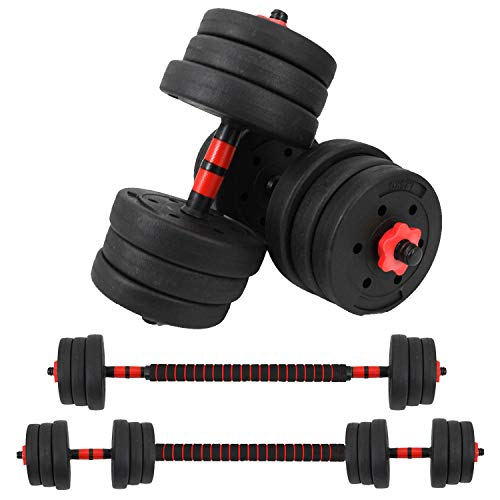 Vivitory Fitness Dumbbells Set, Upgraded Adjustable Weight Sets up to 44/66Lbs, Free Weight with Connecting Rod Used As Barbell, Iron Sand Mixture, Home Gym Work Out Training Equipment