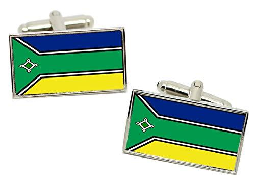 Giftshop UK Amapa ́ (Brasil) Gemelos con Bandera en Caja