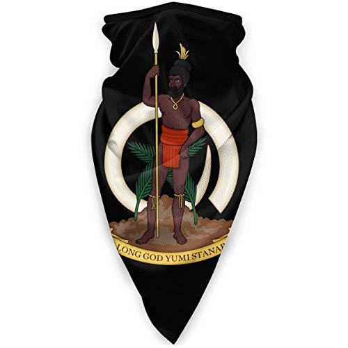 WlQshop emblème National du Vanuatu Cache-Cou Plus Chaud Coupe-Vent Couverture du Visage écharpe Couverture de Sports de Plein air