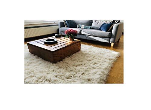 Premium Shaggy Flokati Griechische Teppiche Elfenbein Farbe, von Rugs & Stuff - 70 x 120cm - 2000gsm - Viele Verschiedenen Größen, Wolle, Elfenbeinfarben