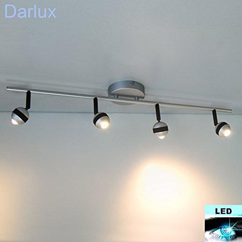 Fischer Leuchten FLI - 20W LED-Deckenleuchte Alu matt schwarz 4-flammig 210524