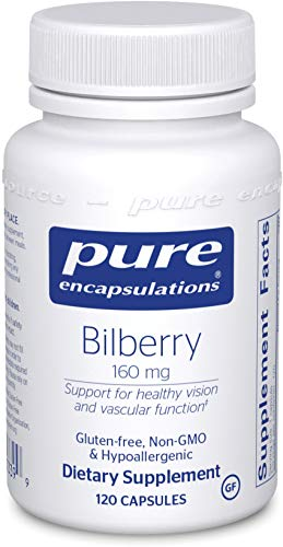 Pure Encapsulations - Bilberry 160 mg - Hypoallergenic Dietary Supplement to Promote Healthy Vision - 120 Capsules