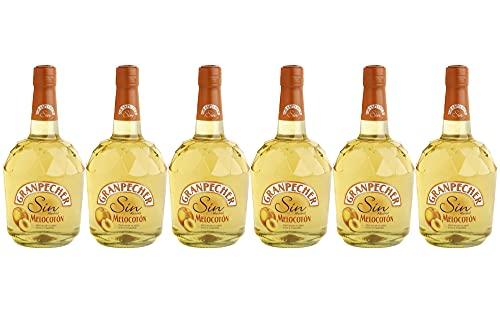Granpecher - Licor de Melocotón sin alcohol - 6 botellas de 700 ml - Total: 4200 ml