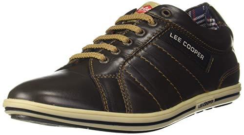 Lee Cooper Men's Brown Leather Sneakers-11 UK (45 EU) (12 US) (LC9634B1)