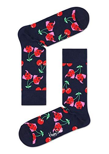 Happy Socks Unisex Cherry Dog Socken, Multi, 41-46