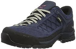 Salewa unisex adult TREKTAIL GORE-TEX shoe Trekking & hiking shoes, blue (Dark Denim / Mineral Red 0356), 36 EU