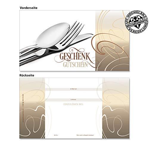10 Gutscheinkarten Geschenkgutscheine. Gutscheine für Restaurant Gasthaus Hotel. Gastronomiegutschein. G1260 geschenkgutschein gmbh