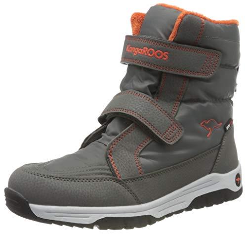 KangaROOS K-Major V RTX Schneeschuh, Grau (Steel Grey/Neon Orange 2125), 40 EU