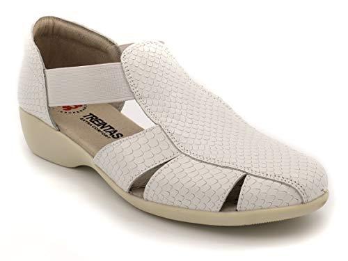 Sandalia con Elasticos treintas m-2507 Blanco 37 EU