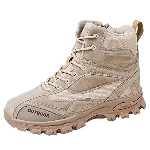 S&H-NEEDRA Bottes De Randonnée Hommes Grande Taille Tour Plein Air des Explosions Bottes Tactiques Outdoor Chaussures