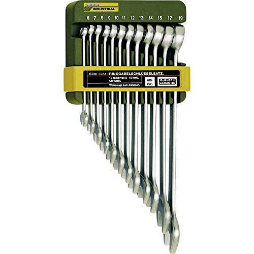 Proxxon 23820 Ring-Maulschlüsselsatz, 12-teilig, 6 - 19 mm