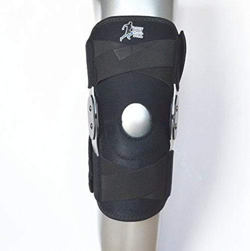 Knee Support Twin Hinged – Medical Grade Breathable Open Patella Brace for Ligament Repair, Arthritic Knees, Strains, Sprains, Pain, Instability, Recovery & Rehabilitation - ONE Size FITS All