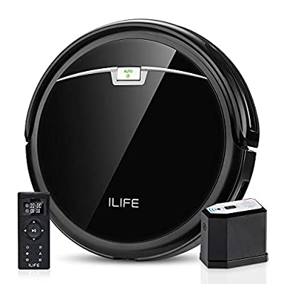 ILIFE A4s Pro Robot Vacuum, 2000Pa Max Suction, ElectroWall, Remote Control, Slim, Thin, Quiet, Self-Charging, Smart, Ideal for Hard Floor to Medium Carpet