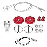 Senyar 2Pcs Hook Pins with Accessories,Universal CNC Aluminum Alloy Car Racing Hood Pin Lock Appearance Kit(Red)
