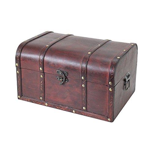 HMF 6406700 Schatztruhen aus Holz | 3er Set | Versch. Größen | Portugal - 6