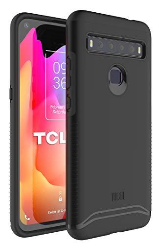 TUDIA Merge Diseñado para la Carcasa TCL 10L, Resistente y Delgada Funda Protectora de Doble Capa para teléfono TCL 10L (Negro Mate)