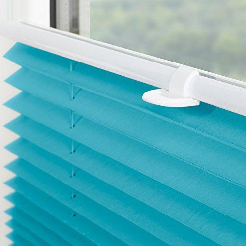 Lichtblick Plissee Klemmfix, 100 cm x 130 cm (B x L) in Blau, ohne Bohren, Sicht- und Sonnenschutz, lichtdurchlässig & blickdicht - 2