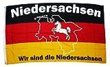 Sturmflaggen® Flagge Fahne Wir sind Niedersachsen 90 x 150 cm