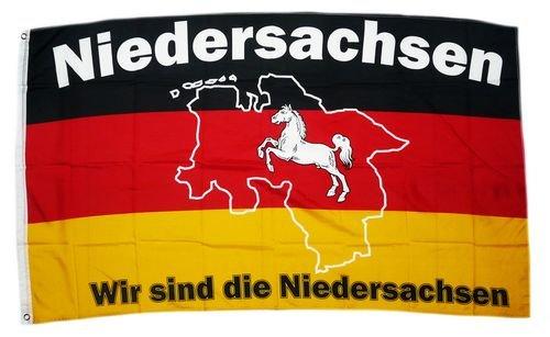 Fahne/Flagge Wir sind Niedersachsen 90 x 150 cm
