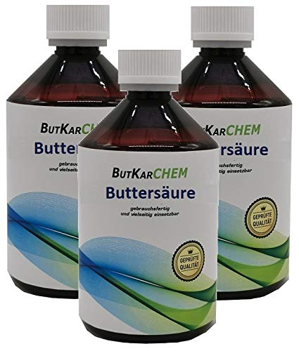 ButKarCHEM 750ml (3x250ml) Buttersäure ARTNR.2584 * 24h DHL SOFORT Versand* Gebrauchsfertig von Karbid 24 (750.ml)