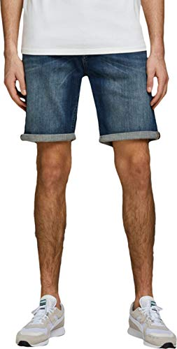 JACK & JONES Herren Jeansshorts Rick Original AGI 005 LBlue Denim