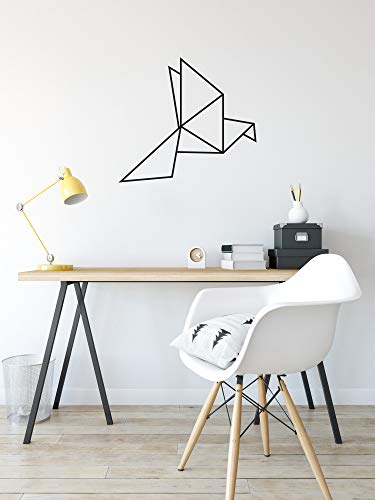 Origami Bird Wall Decal Simple Wall Decor Modern Wall Art Home Decor Geometric Bird Wall Decor Wall Design Ideas New Home Gift